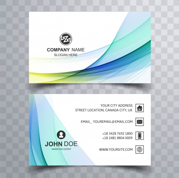 Modern Blue Corporate Business Card