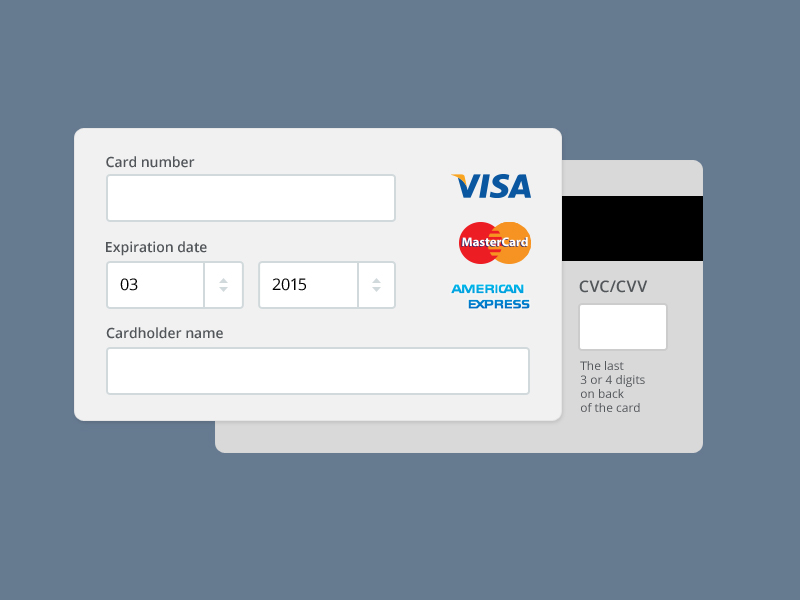 Payment Form PSD