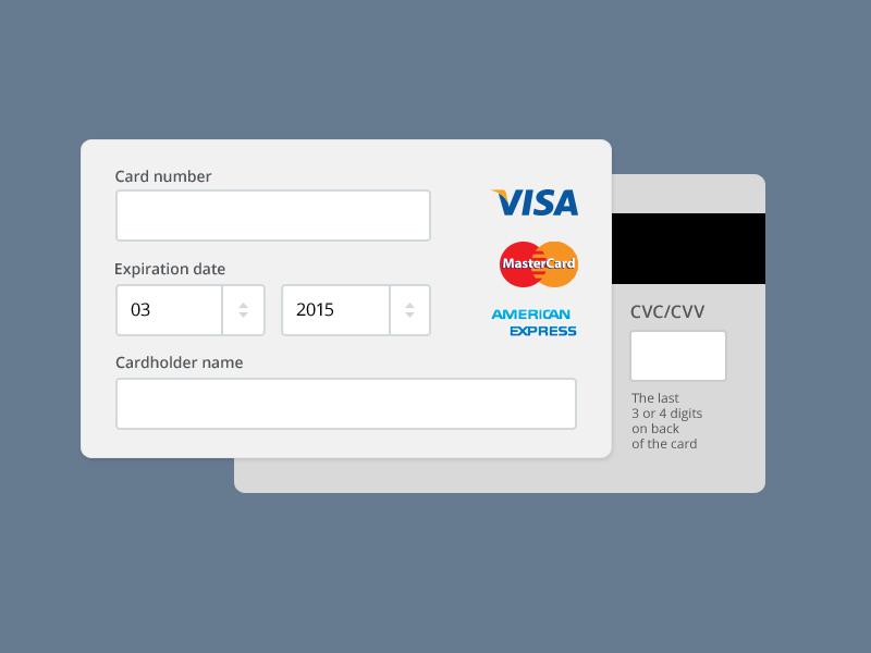 Payment Form PSD