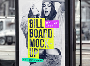 Bus Stop Billboard MockUp #2