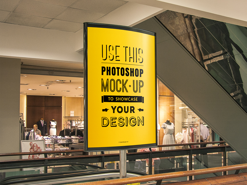 Indoor Advertising Poster MockUp Vol 1