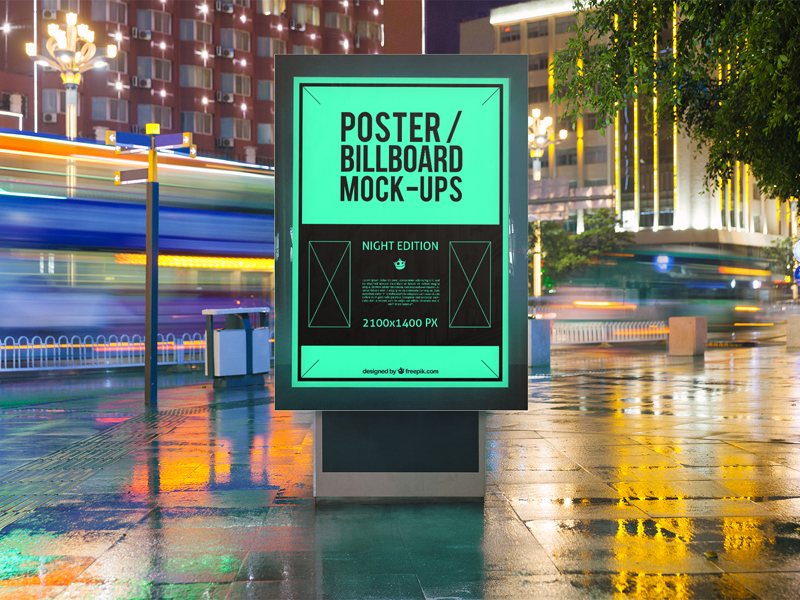 4 Urban Poster/Billboard Mock-Ups