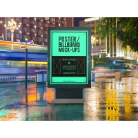 4 Urban Poster/Billboard Mock-Ups