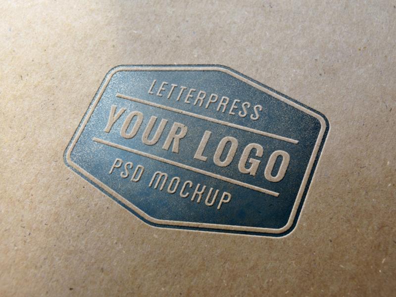 Letterpress Logo MockUp