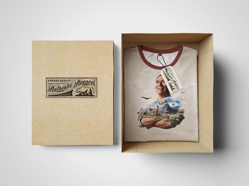 T-Shirt Mockup. Box Edition