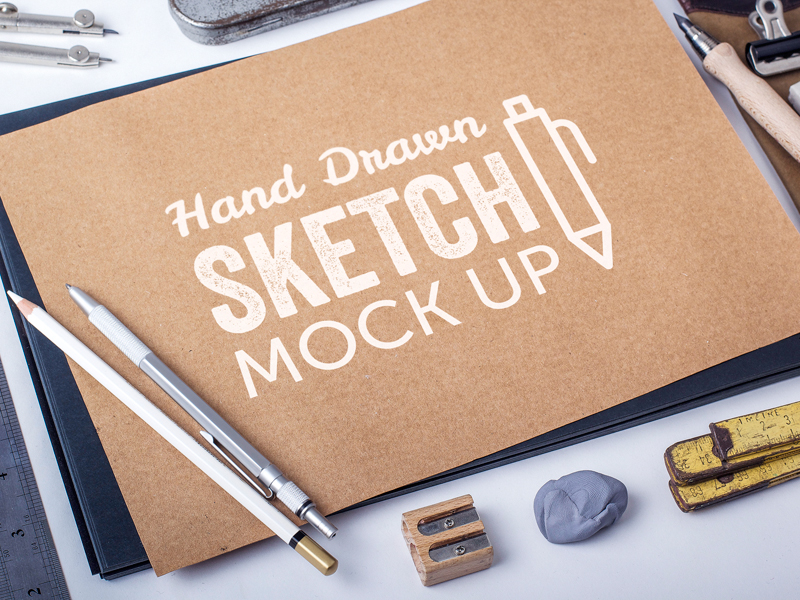 Hand Drawn Sketch MockUp Vol.1