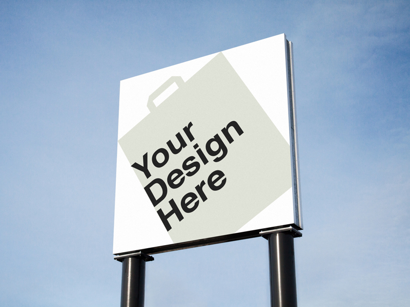 2 Outdoor Advertising Mock-up