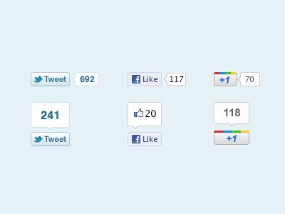 Social Buttons PSD