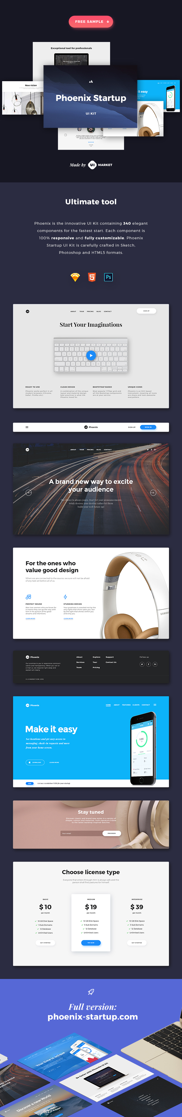Phoenix Startup UI Kit – Free Sample
