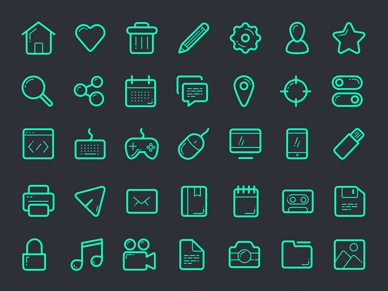 112 Vector Icons Set