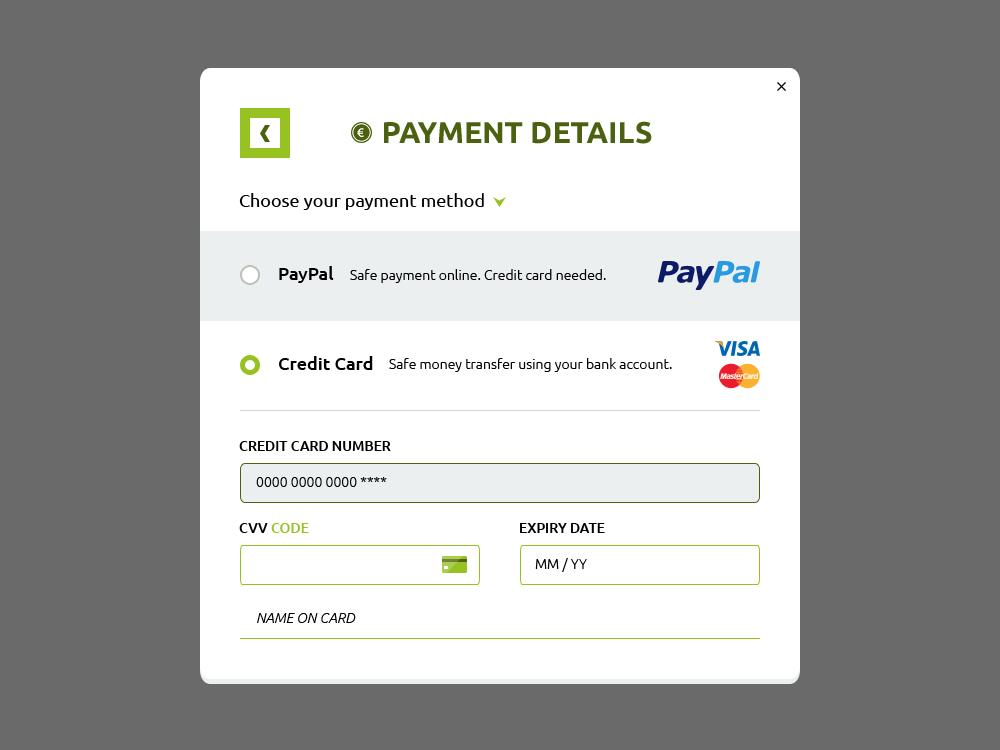 Payment Details Form