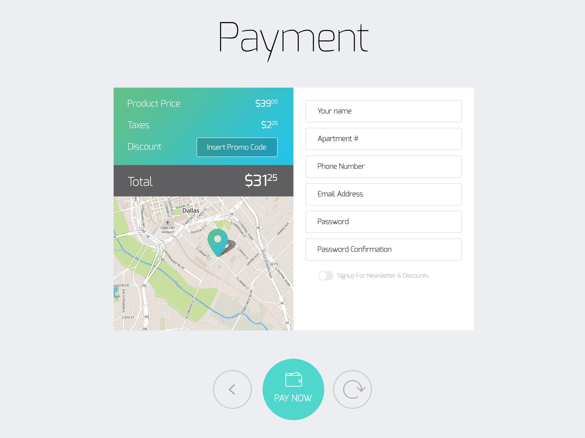 Payment Input Form