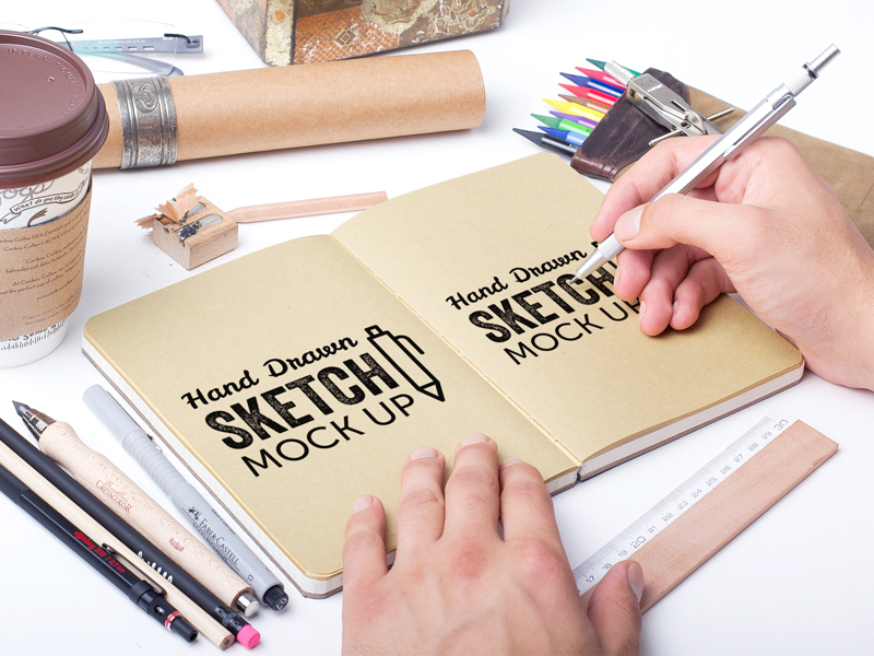 Hand Drawn Sketch MockUp Vol.2