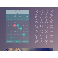 iOS 7 Style UI Kit