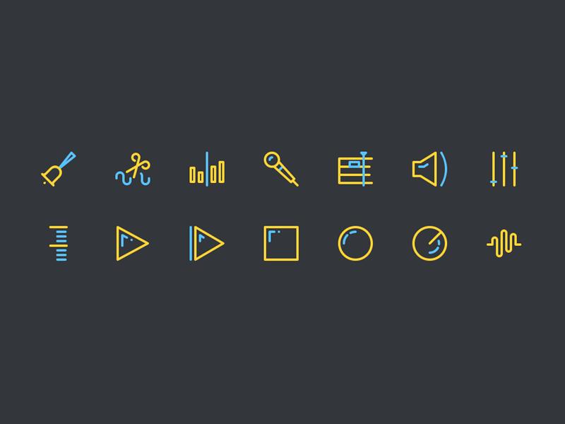 Sound Editing Icons
