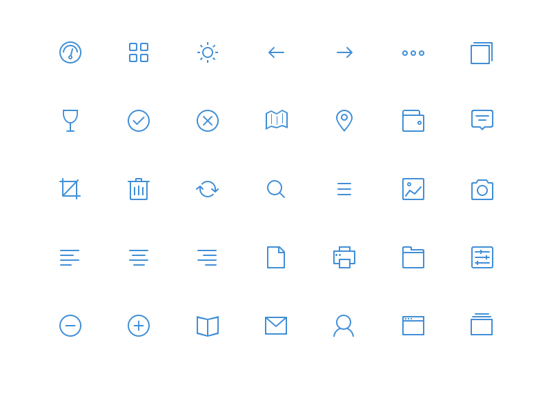 35 Simple Icons