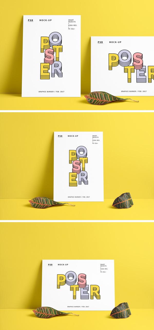 Poster MockUp PSD [Portret + Landscape]