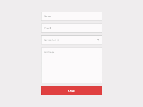 Contact Form PSD