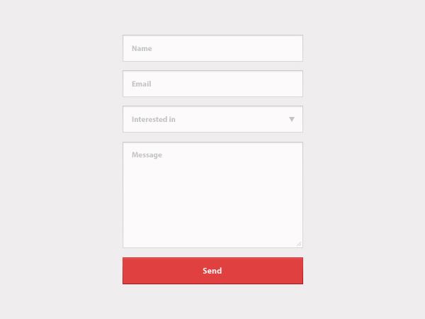 Contact Form PSD
