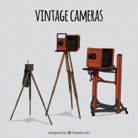 Hand Drawn Vintage Photo Equipment