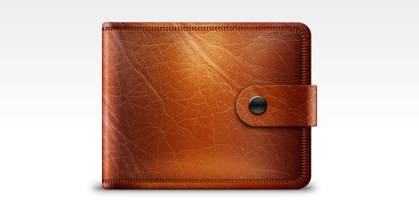 Leather Wallet Icon