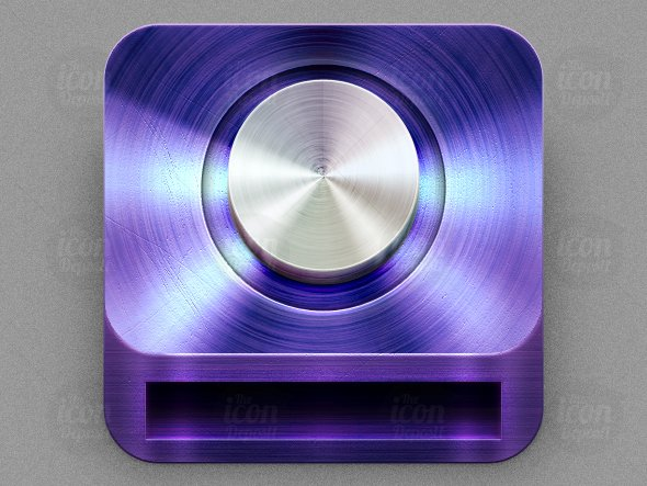 Metal Disc Drive Icon