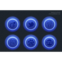 Blue Сolor Social Icon Set