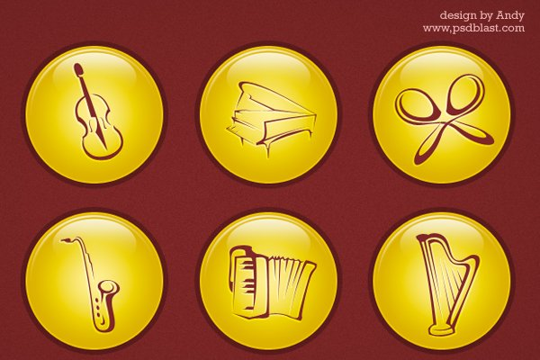 Music Icon PSD