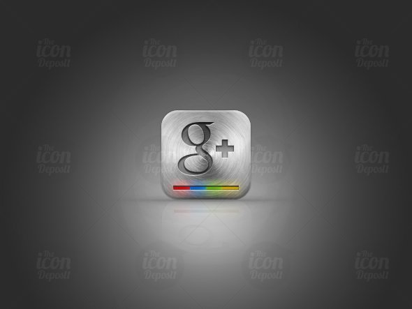 Metal Google+ Icon