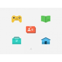 Flat Icon With PSD