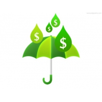 Money Rain And Umbrella