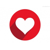 Heart Shape Button And Icon
