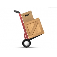 Loaded Hand Truck Icon