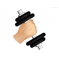 Hand And Dumbbell, Gym Icon