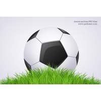 Black and White Football Ball - Soccer Icon