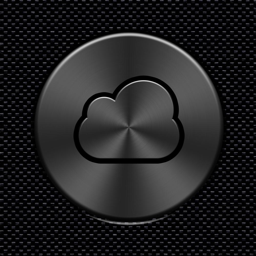 Dark Metallic iCloud Button