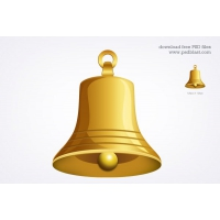 Gold Bell Icon