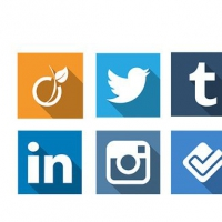 20 Long Shadow Social Icons Psd
