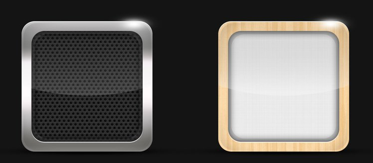 iOS iPhone iPad iPod App Icons Set PSD