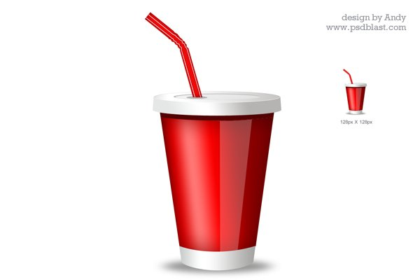 Red Drink Glass Icon