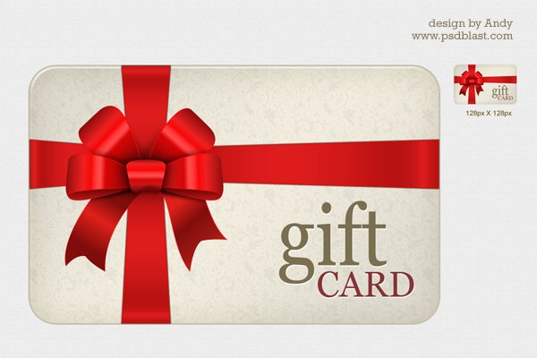 High Resolution Gift Card PSD
