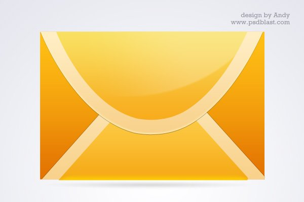3 Different Color Mail Icon Set