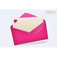 Pink Love Mail Icon