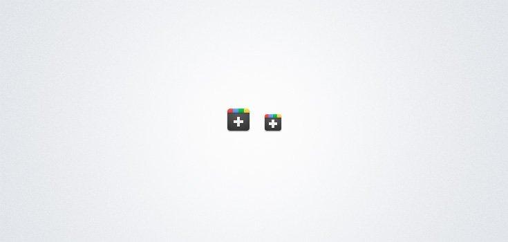 Google Plus(+) Icons