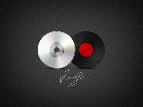 CD & Vinyl Record Icons