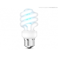 Fluorescent Light Bulb Icon