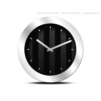 Modern Black Clock Icon