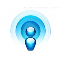 Blue Radio Wave Icon