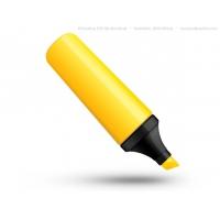 PSD Yellow Highlighter Pen Icon