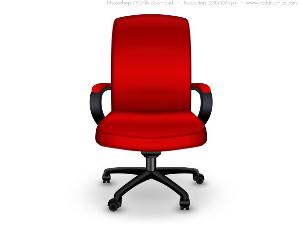 Red Office Chair PSD